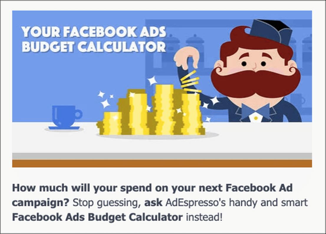 screenshot of adespresso's facebook ad